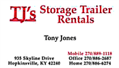 Tj Storage Rental